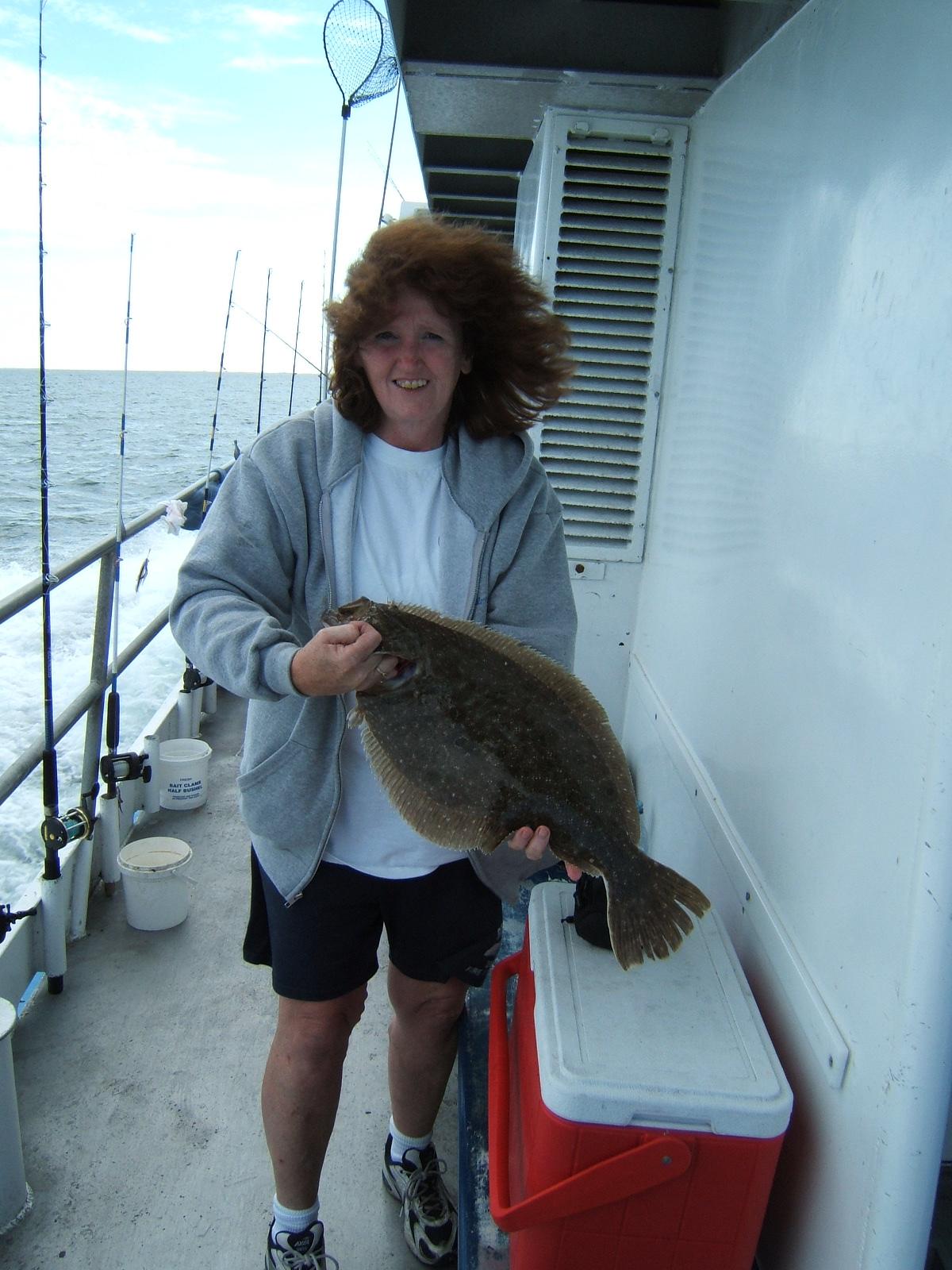 Fluke fishing for Frances fleet fishing